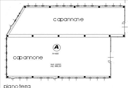Capannone in Affitto a Vimercate: 2066 mq
